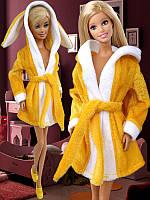 Одежда для кукол Барби - халат с ушками, фото 1