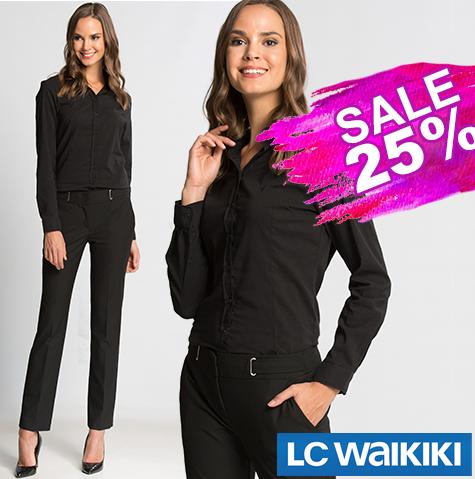 e239896ad6a4a Черная женская рубашка LC Waikiki / ЛС Вайкики: продажа, цена в ...