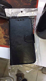 Оригинальный кожаный чехол-книжка черный для Sony Xperia Z5 compact