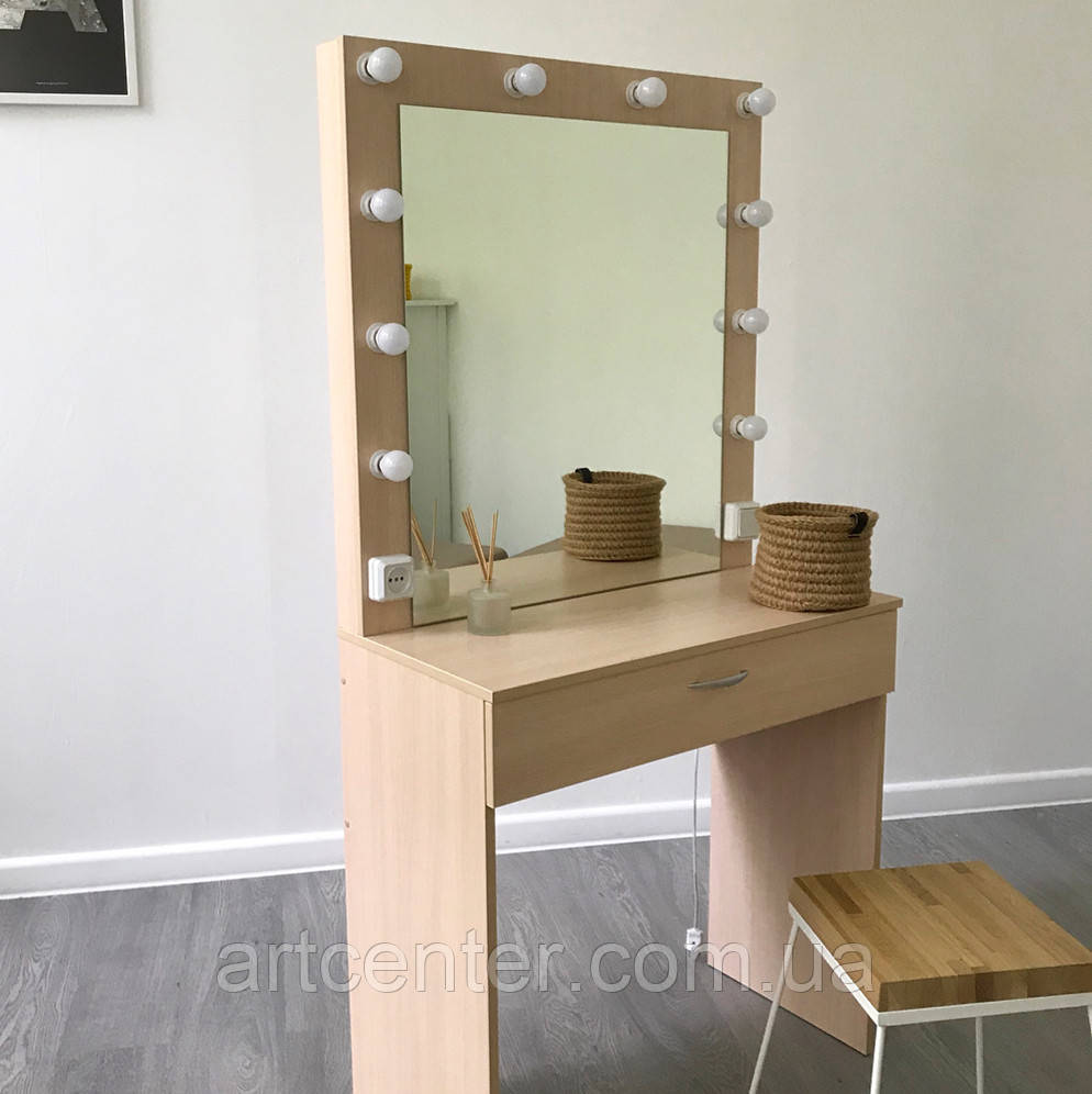 Професійне робоче місце майстра візажиста, стиліста, бровиста, перукаря, туалетний стіл