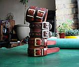 Кожаные  браслеты с надписью, фото 6