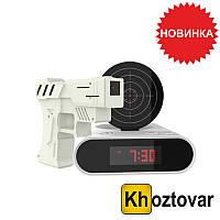 Часы-будильник с пистолетом Gun Alarm Clock