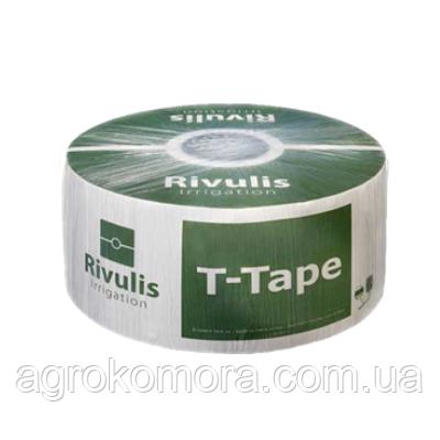Крапельна стрічка T-Tape 4 міл 20 см 1,0 л/год 4600м Rivulis