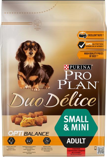 Сухой корм для собак Pro Plan (Про План) Duo Delice 700г с говядиной для взрослых собак мелких пород