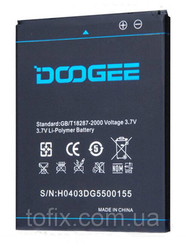 Батарея (АКБ, аккумулятор) Doogee B-DG550 для Doogee DG550 Dagger, 2600 mAh, оригинал