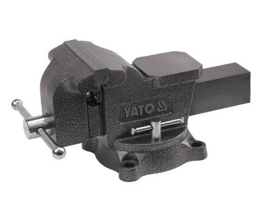 Тиски поворотные слесарные из чугуна 150мм YATO YT-6503, фото 2