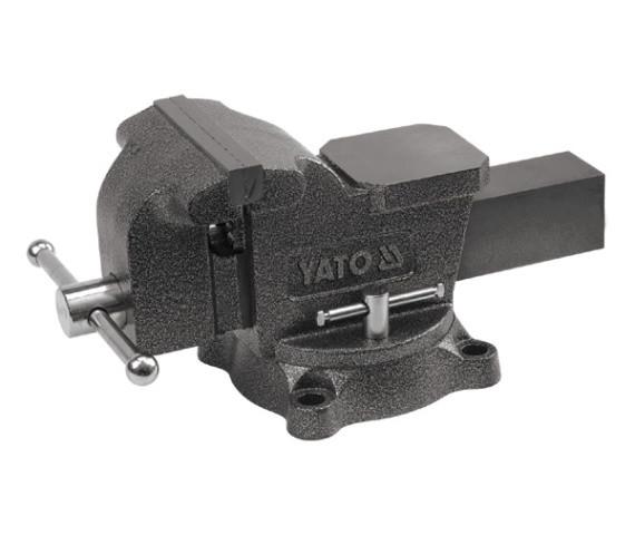 Большие поворотные слесарные тиски 200мм YATO YT-6504