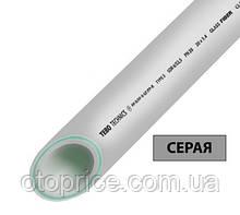 Полипропиленовая труба стекловолокно серая TEBO technics