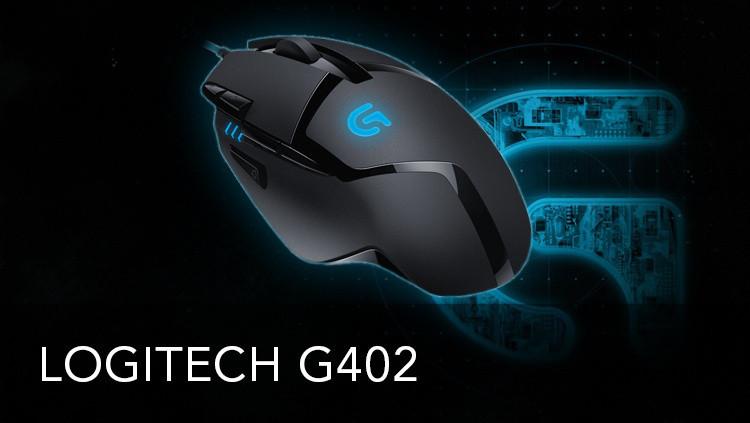 Игровая Мышь Logitech G402 Hyperion Fury Black 8 кнопок, 4000 Dpi