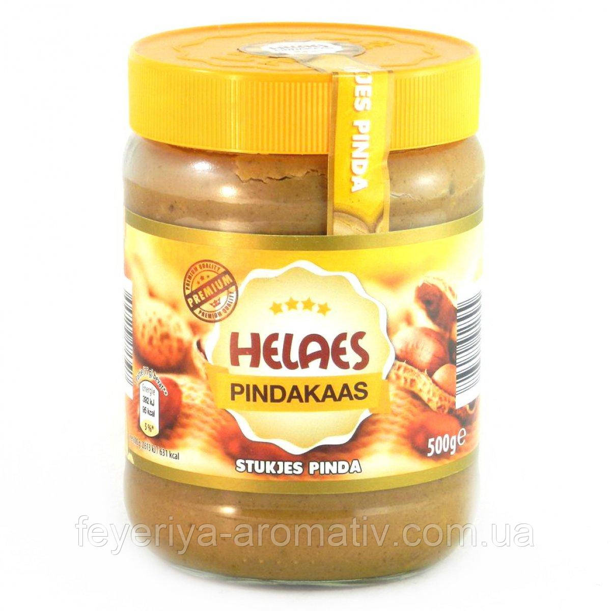 Арахисовое масло Helaes Pindakaas stukjes pinda, 500гр (Голандия)