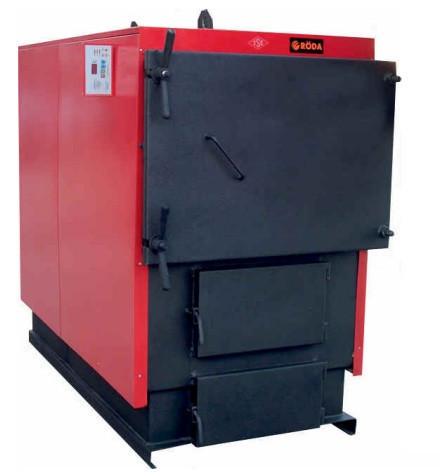 Промышленный стальной твердотопливный котел с ручной загрузкой топлива RODA RK3G - 300 кВт (РОДА)