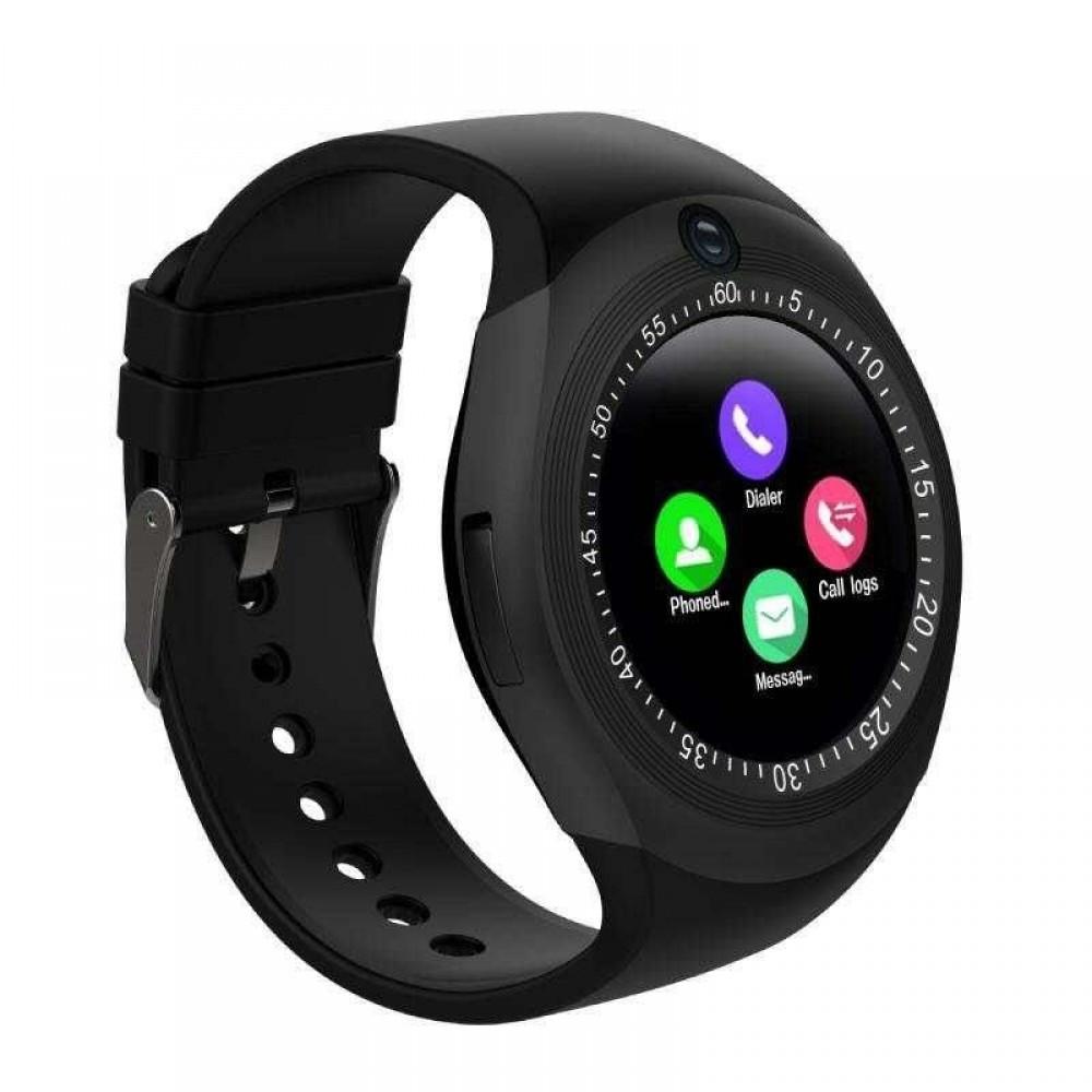Смарт-часы UWatch Y1  часофон Black УЦЕНКА (011151)