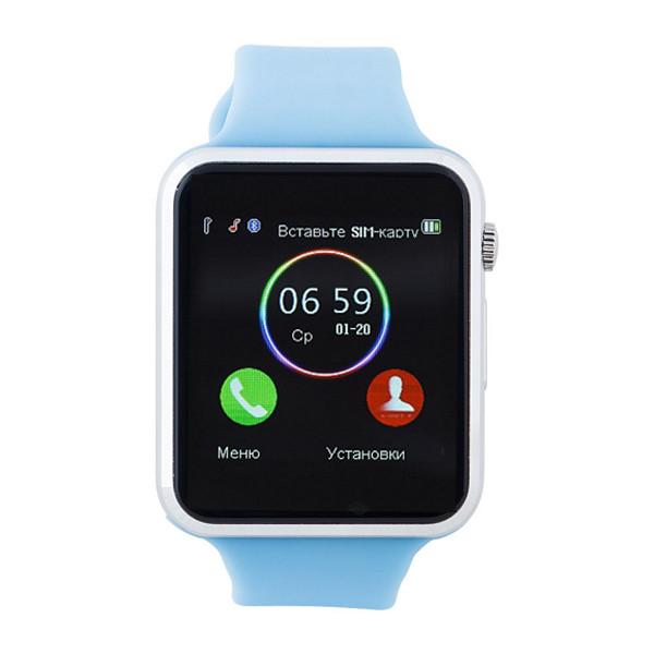 Умные часы телефон Smart Watch A1 c SIM картой Blue УЦЕНКА (231040)
