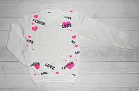"""Детская толстовка  """" Fashion Paris """"  на девочку с начесом 5,6,7,8 лет"""