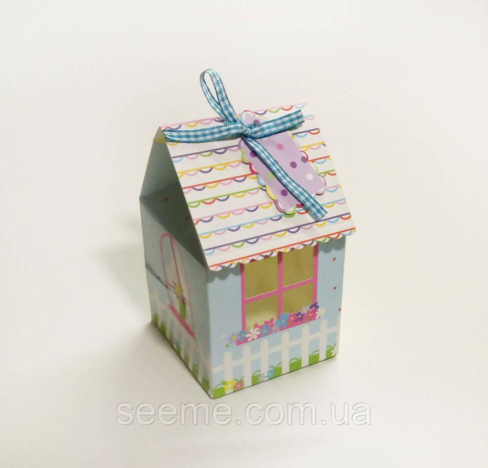 Коробка-домик с окошком 145x90x85 мм