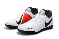Футбольные сороконожки Nike Phantom Vision Academy DF TF Pure Platinum/Black/Light Crimson/Dark Grey, фото 1
