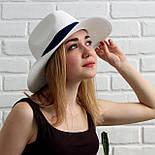 Летняя шляпа унисекс, синий+белый, фото 2
