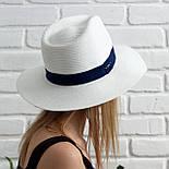 Летняя шляпа унисекс, синий+белый, фото 3