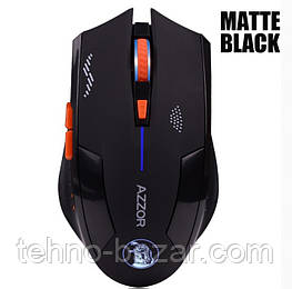 Беспроводная игровая мышка AZZOR Mate Black аккумуляторная 2400 dpi 2.4G Silent