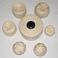 Остатки пряжи, нитки для вязания МОЛОЧНЫЕ, хлопок, вес 600 гр