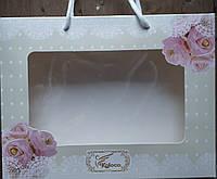 Подарочная коробка для полотенец  25х20х5 Розочки