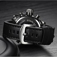 Ударопрочные кварцевые армейские часы AMST Black Оригинал, фото 2