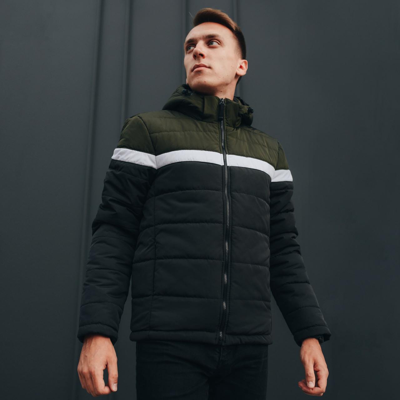 Демисезонная куртка мужская черная размер S, M, L, XL