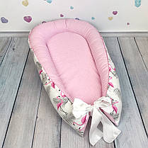 """Кокон-гнёздышко для новорожденного с кокосовым матрасом """"Flamingo"""", фото 2"""