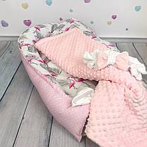 """Кокон-гнёздышко для новорожденного с кокосовым матрасом """"Flamingo"""", фото 3"""