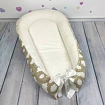 """Кокон-гнёздышко для новорожденного с кокосовым матрасом """"В облаках"""", фото 3"""