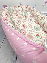 """Кокон-гніздечко для новонародженого з кокосовим матрацом """"Star Ice Cream"""", фото 3"""