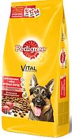 Pedigree сухой корм для взрослых собак крупных пород говядина рис 15 кг