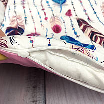"""Кокон-гнёздышко для новорожденного с кокосовым матрасом """"Перья"""", фото 3"""