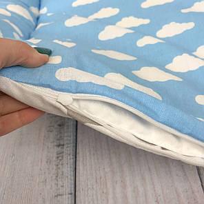 """Кокон-гніздечко для новонародженого з кокосовим матрацом """"Clouds & Stars"""", фото 2"""