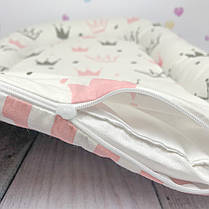 Кокон-гнёздышко для новорожденного с кокосовым матрасом, фото 3