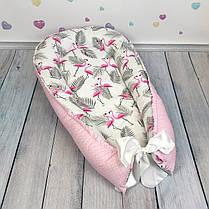 """Кокон-гнёздышко для новорожденного """"Flamingo"""" с поролоновым матрасом, фото 3"""