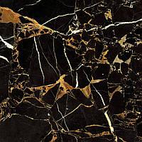 607х607 Керамограніт підлогу Saint Laurent чорний, фото 1