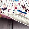 """Кокон-гнёздышко для новорожденного """"Перья"""" с поролоновым матрасом, фото 3"""