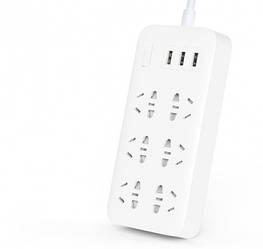 Удлинитель Mi Power Strip Quick Charger 2.0 (6 + 3 USB-port) White