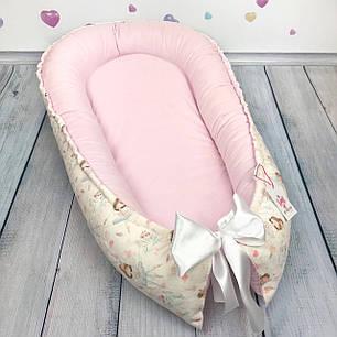 """Кокон-гнёздышко для новорожденного """"Балеринки"""" с поролоновым матрасом, фото 2"""