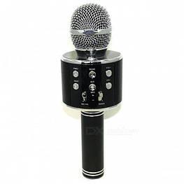 Беспроводной Караоке-микрофон с динамиком Bluetooth WS-858 Black