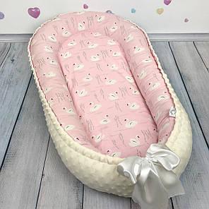 Кокон-гнёздышко для новорожденного с кокосовым матрасом, фото 2