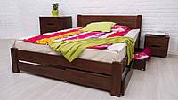 Кровать деревянная Айрис с ящиками ТМ Олимп