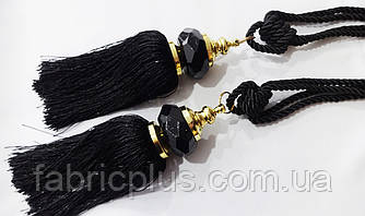 Кисти - подхваты для штор 55 см черные