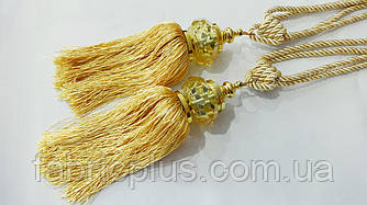 Кисти - подхваты для штор 55 см золото