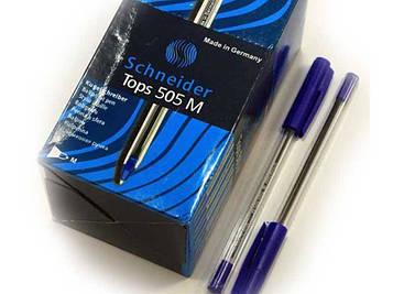 Ручка шариковая TOPS 505М  синяя 50шт Schneider