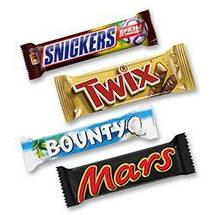 Вафли и шоколадные батончики