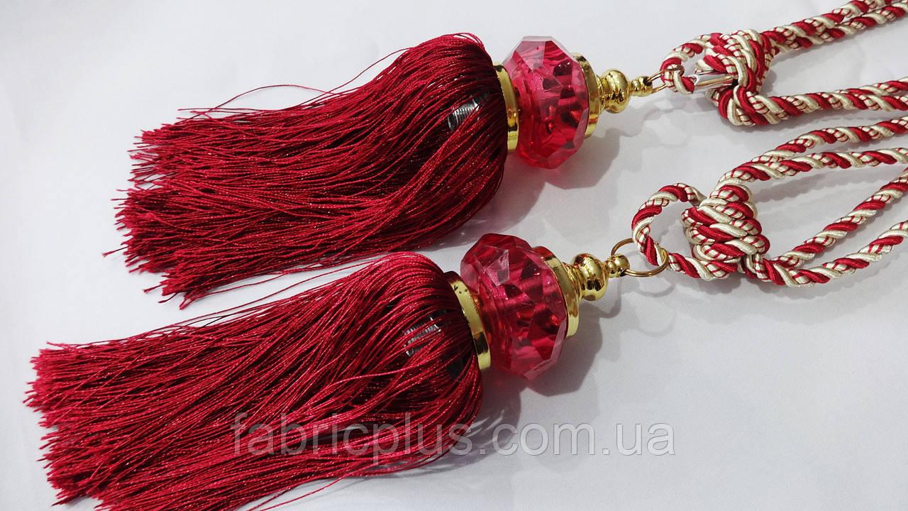 Кисти - подхваты для штор 55 см шампань с бордо