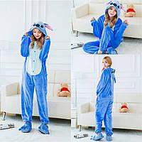 Пижама Кигуруми плюшевая Стич взрослый размер М на рост 155-165 см