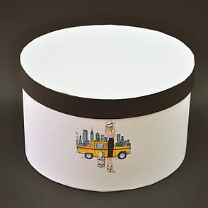 "Шляпная коробка ""Нью-Йорк"" d25 h15"